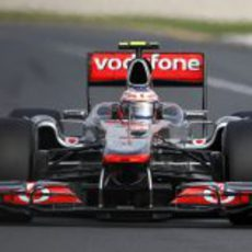 Jenson Button en pista