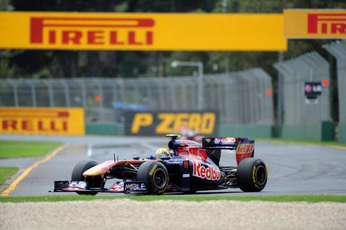 Jaime Alguersuari en la clasificación de Australia