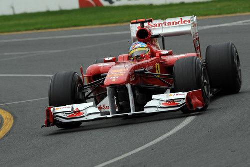 Alonso en la clasificación del GP de Australia 2011