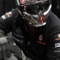 Uno de los mecánicos de McLaren