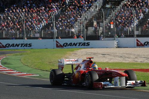 Fernando Alonso en la carrera australiana
