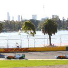 Di Resta, Sutil y el lago de Albert Park