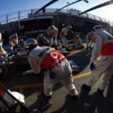 Cambio de neumáticos para Hamilton