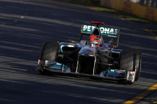 Michael Schumacher durante la carrera