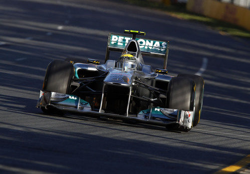 Nico Rosberg en acción durante la carrera