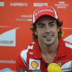 Alonso en la primera entrevista del fin de semana