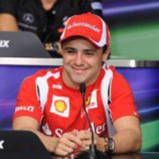 Felipe Massa en la rueda de prensa oficial de la FIA