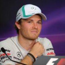 Nico Rosberg durante la rueda de prensa del jueves