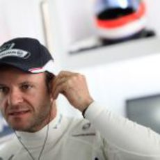 Barrichello en el box de Williams