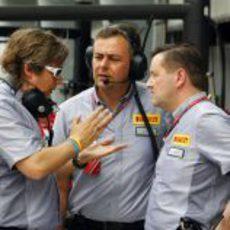 Los hombres de Pirelli debaten en Malasia