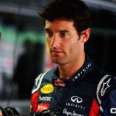 Webber familiarizándose con su volante
