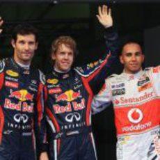 Vettel, Hamilton y Webber saldrán los primeros en Malasia