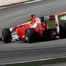 Felipe Massa en la clasificación del GP de Malasia 2011