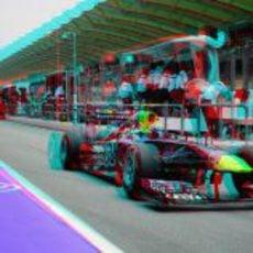 Webber sale a pista en 3D