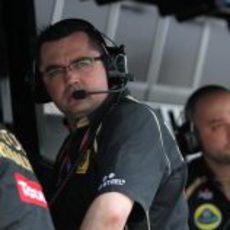 Boullier sigue la evolución de sus pilotos