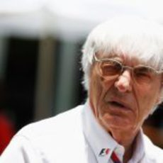 Bernie Ecclestone en el GP de Malasia 2011