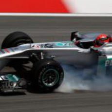 Pasada de frenada de Michael Schumacher en Sepang