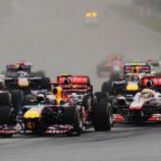 Salida del GP de Malasia 2011