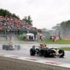 Coulthard intenta mejorar sus tiempos