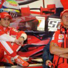 Massa y Schumacher
