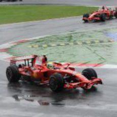 Massa y Raikkonen en la clasificación