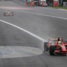 Hamilton tras Massa