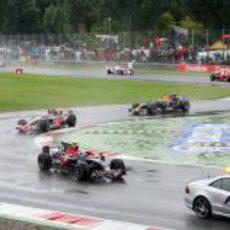 Los Fórmula 1 detrás del safety car