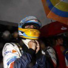 Alonso en la parrilla de salida