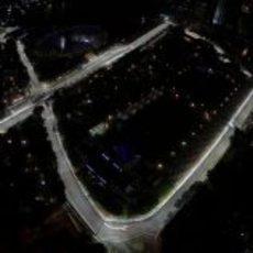 Vista aérea del circuito de Singapur