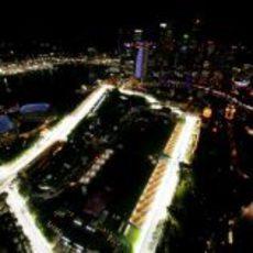 La iluminación del circuito de Singapur