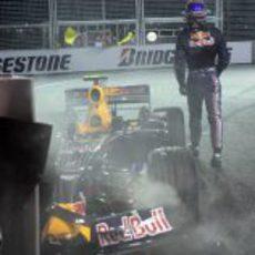 El choque de Webber