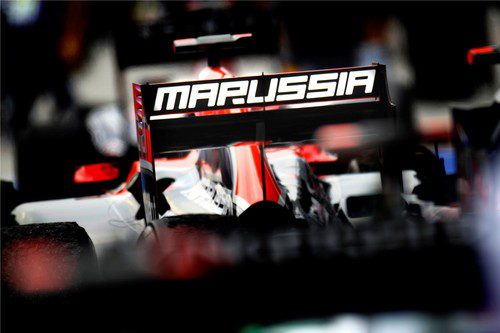 Marussia, visible en el alerón trasero del Virgin