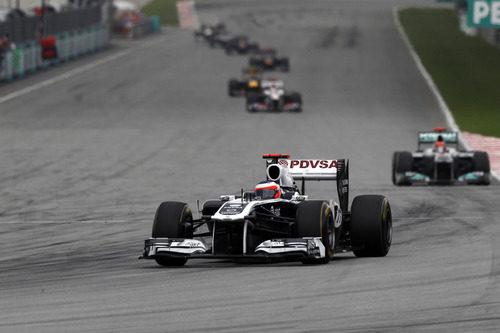 Barrichello no consiguió terminar la carrera