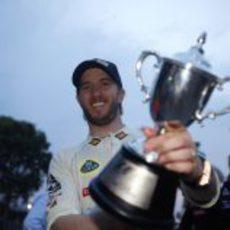 Heidfeld recogió un trofeo dos años después