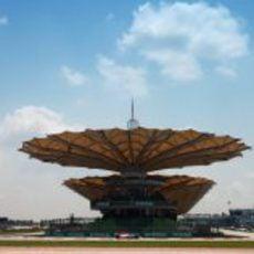 Karthikeyan en la horquilla de Malasia