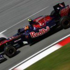 Jaime Alguersuari en la pista de Malasia