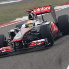 Hamilton en los entrenamientos del GP de China 2011
