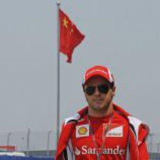 Felipe Massa llega al GP de China 2011
