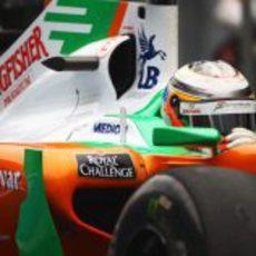 Nico Hülkenberg vuelve a subirse al coche en el GP de China 2011