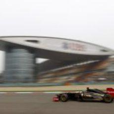 Heidfeld en el Circuito Internacional de Shanghai
