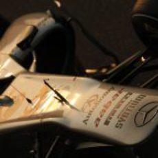 Detalle del Mercedes GP W02