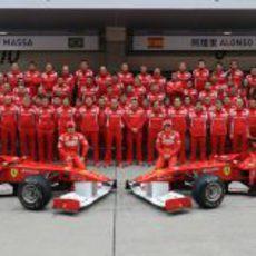 Foto de familia de Ferrari en China 2011