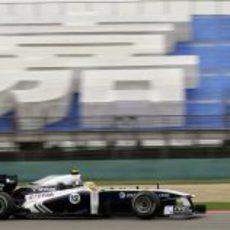 Maldonado durante la clasificación del GP de China 2011