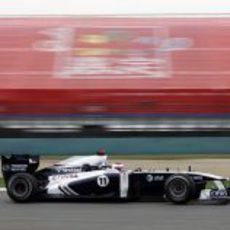 Barrichello durante la clasificación del GP de China 2011