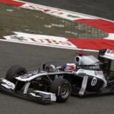 Barrichello saliendo de una horquilla