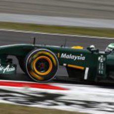 Kovalainen durante la clasificación del GP de China 2011