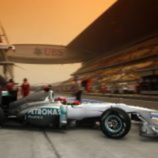 Schumacher sale a pista en el GP de China 2011