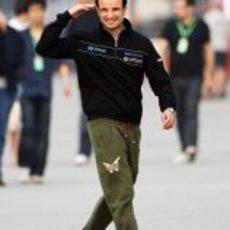 Liuzzi feliz de llegar al GP de China 2011