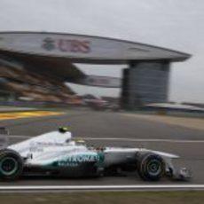 Nico Rosberg clasifica en cuarta posición en China 2011