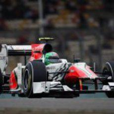 Liuzzi durante la clasificación del GP de China 2011
